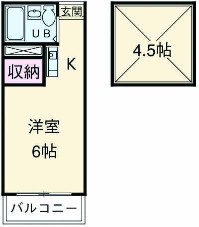 ピア6・634号室の間取り