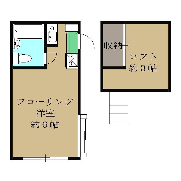 三京ハイツB・101号室の間取り