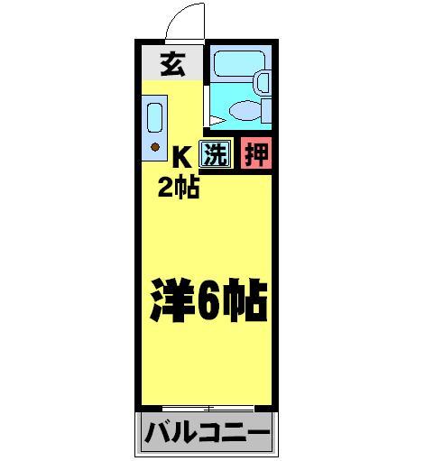 エステートミヤコ・201号室の間取り
