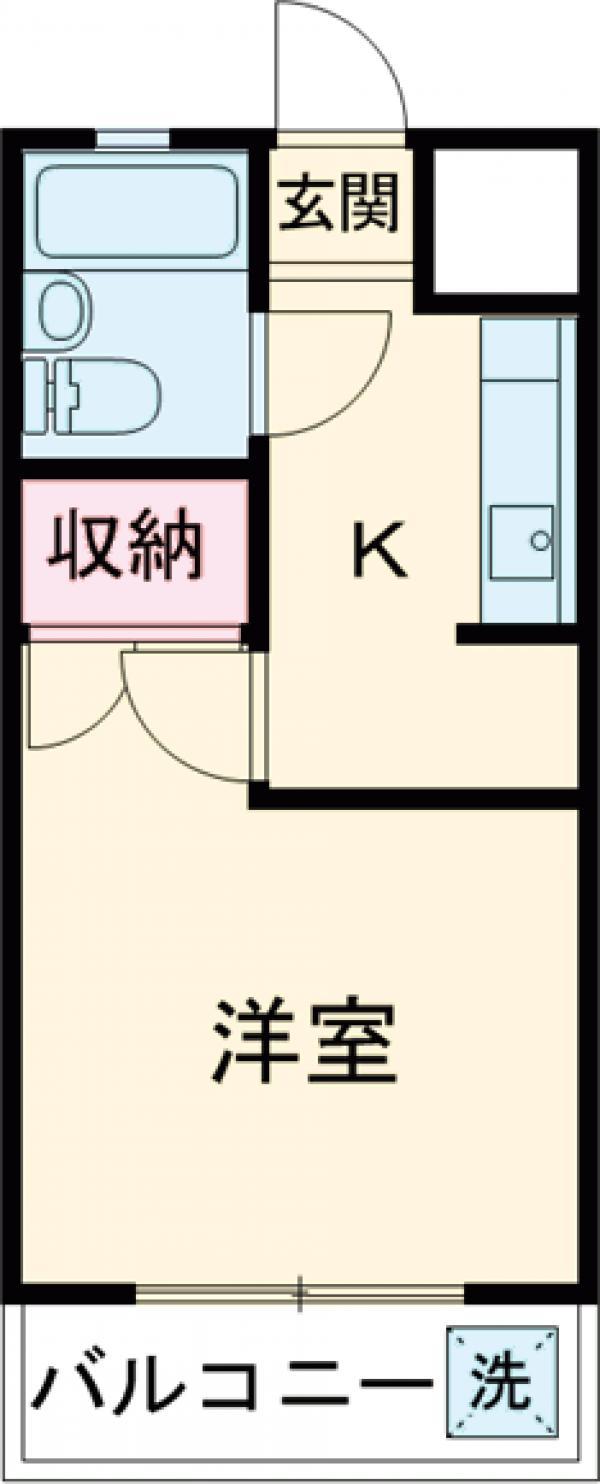 藤ハイツ桜・307号室の間取り