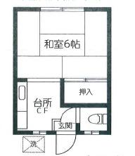 第二筑波荘・2-12号室の間取り