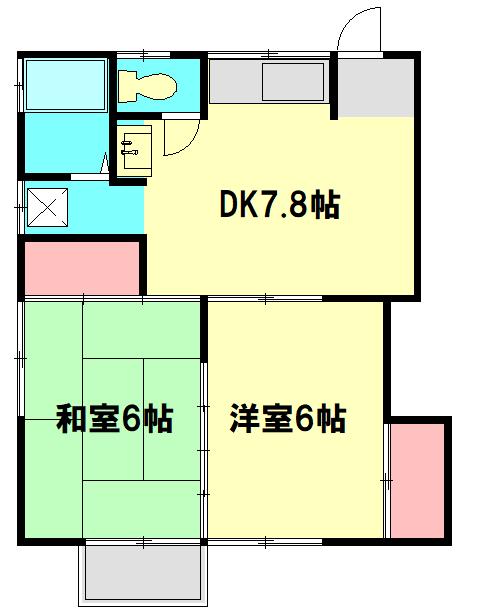 大和田ハイツ・102号室の間取り