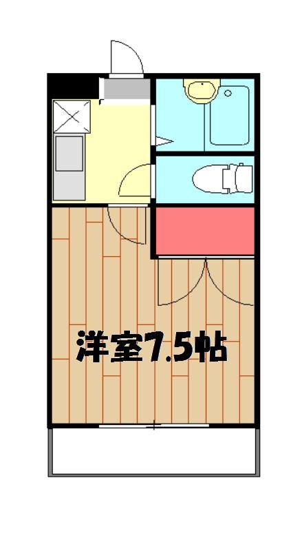 えびす・304号室の間取り