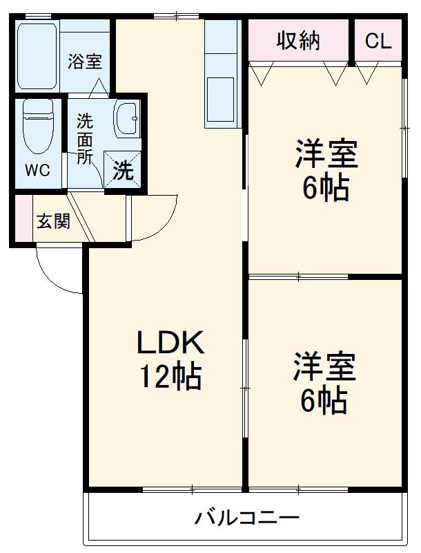 石川ハイツC・209号室の間取り