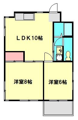 高島マンション・202号室の間取り