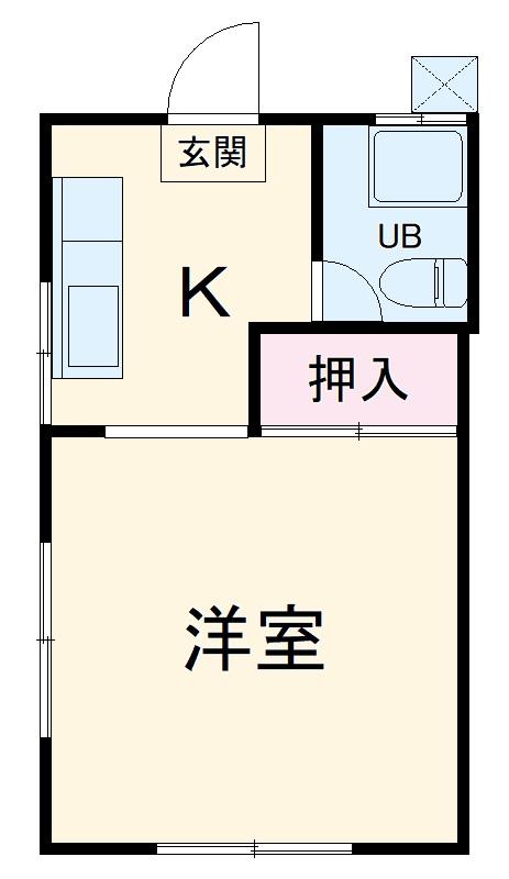 コーポ中村Ⅱ・106号室の間取り