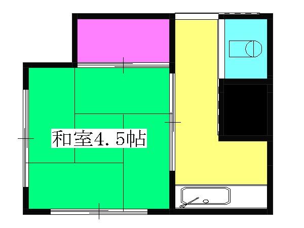栄荘・203号室の間取り