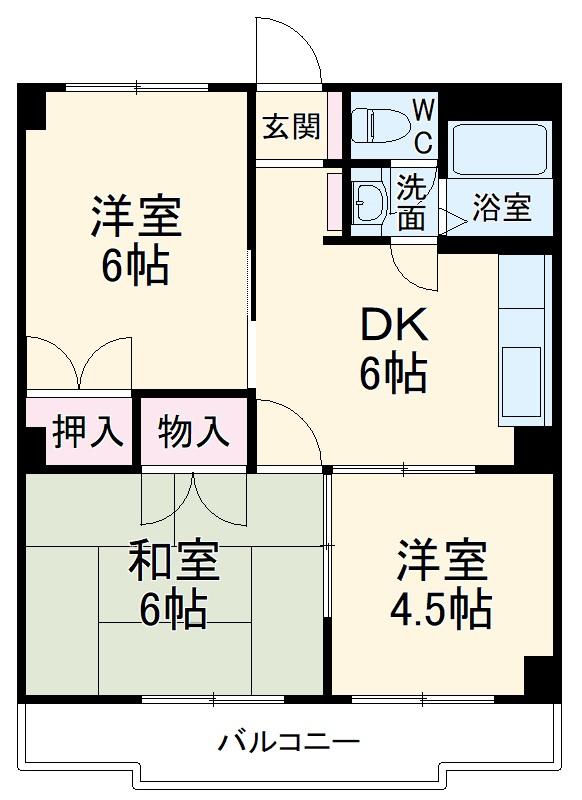 HSマンション・102号室の間取り