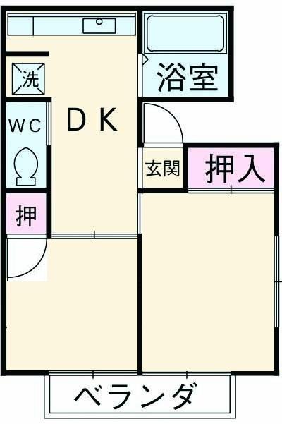 米山アパート・101号室の間取り