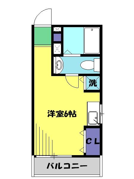 バーン栄・301号室の間取り