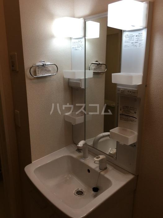 利根レジデンス 205号室の洗面所