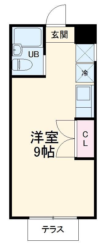 クレスト青葉台・102号室の間取り