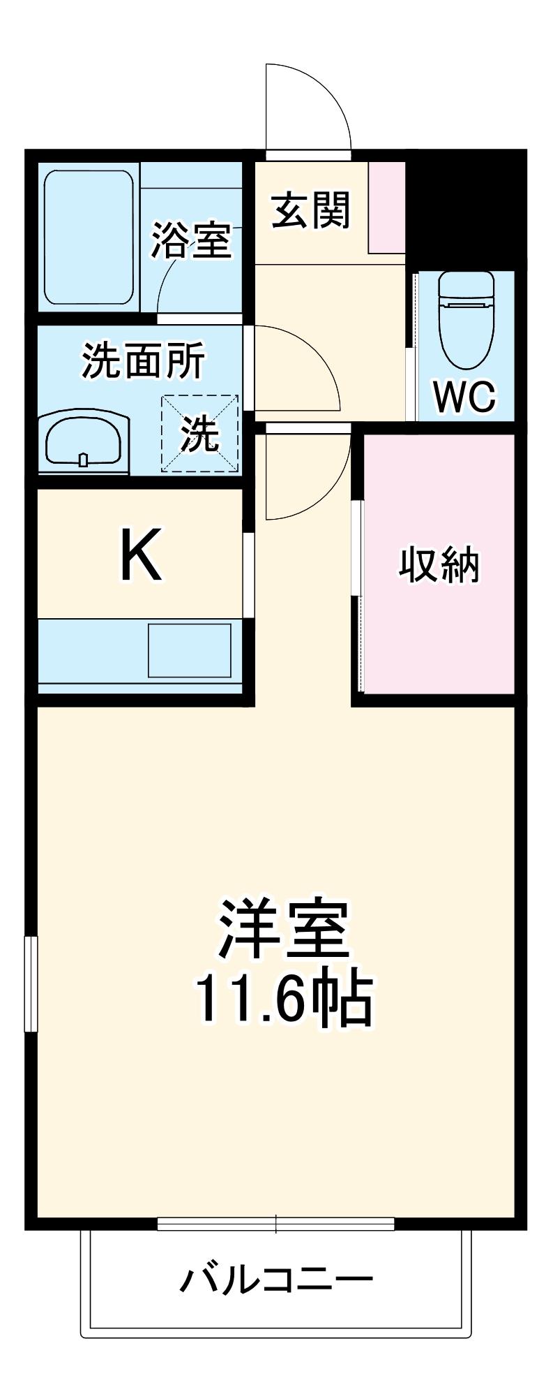 ジ・アパートメント荻窪Ⅰ・105号室の間取り