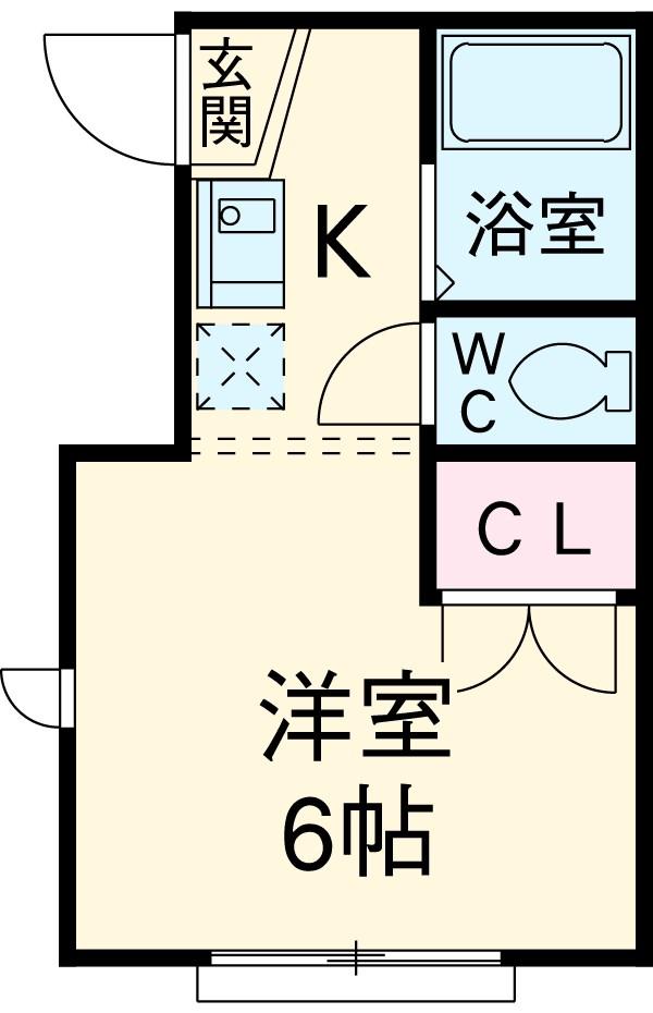 富田ハウス・101号室の間取り