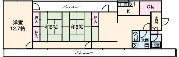 ドミノ箱根マンション・51号室の間取り