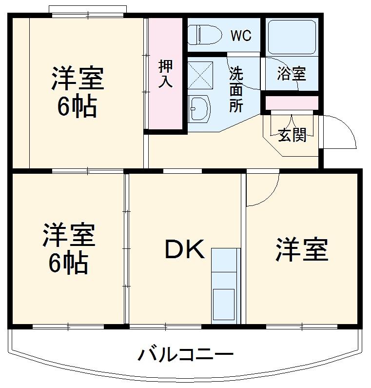 小川ハイツ 305号室の間取り