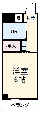 セジュール晴山Ⅲ・310号室の間取り