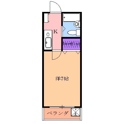 フレールシャポー泉B・208号室の間取り