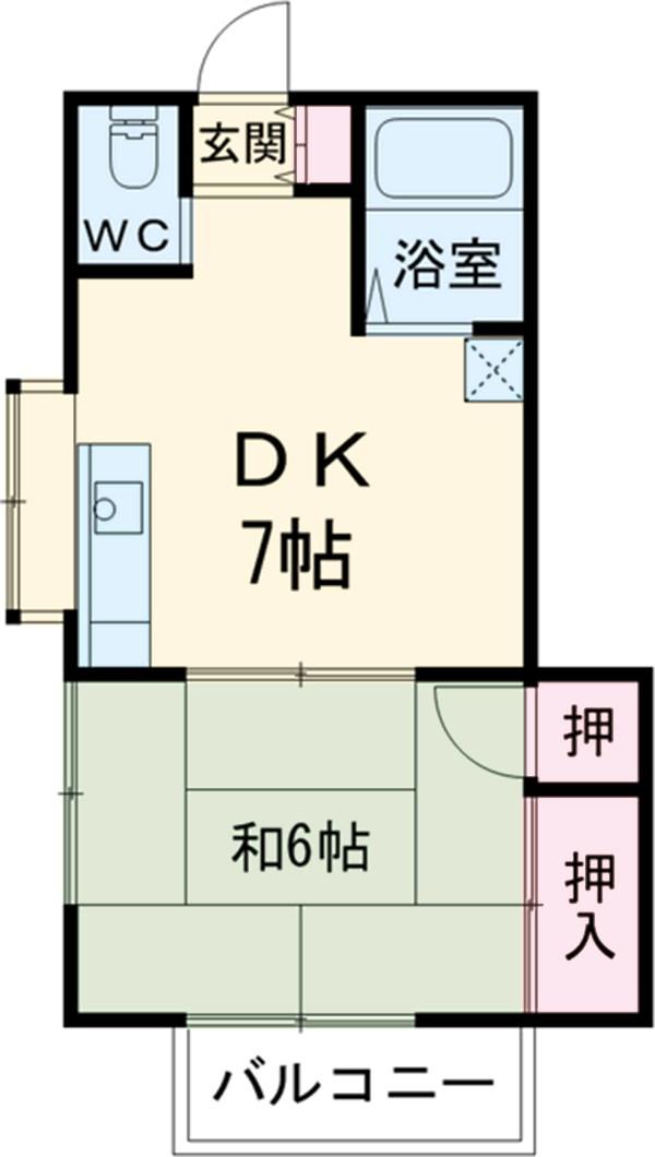 関川アパート A号室の間取り