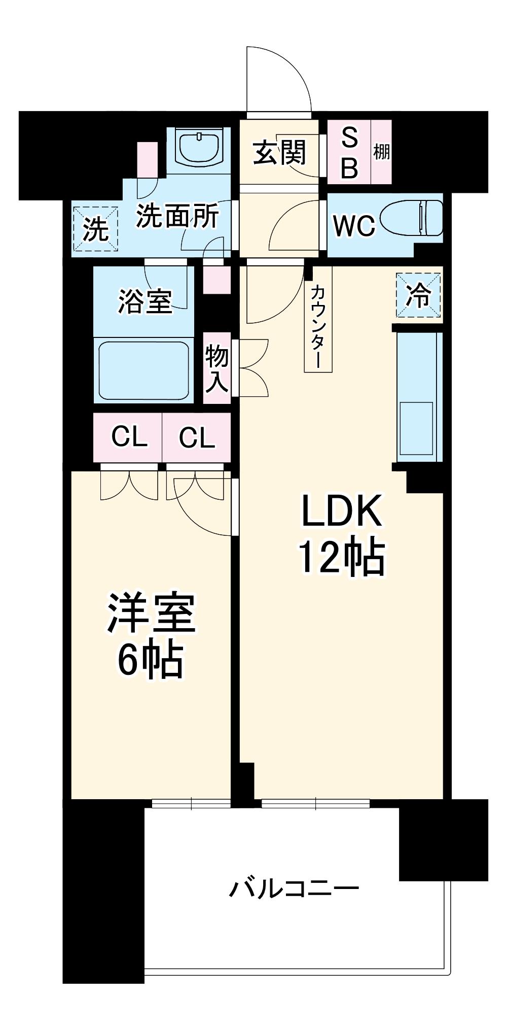 BLESS宮崎台・1408号室の間取り