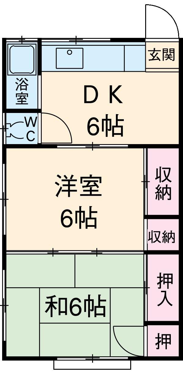 中山アパート 201号室の間取り