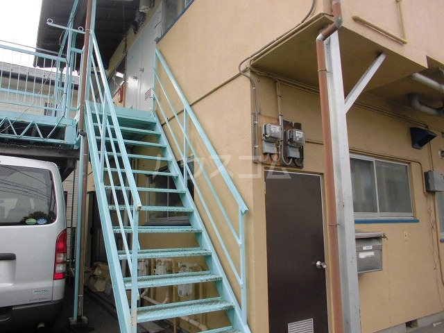 中山アパート 201号室のエントランス