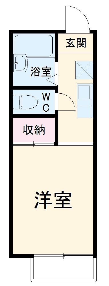 竹林ナカノA・204号室の間取り
