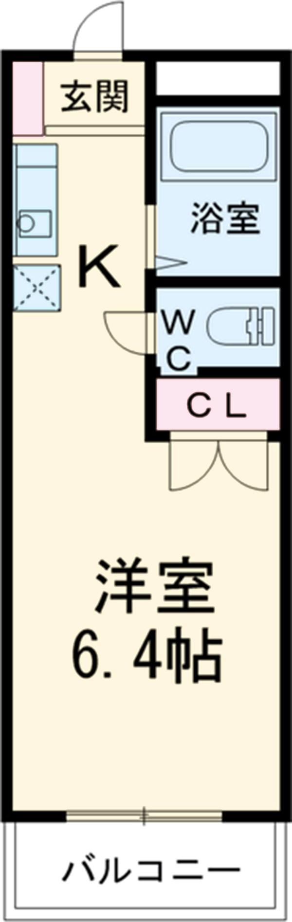 コーポKARUGAMO・306号室の間取り