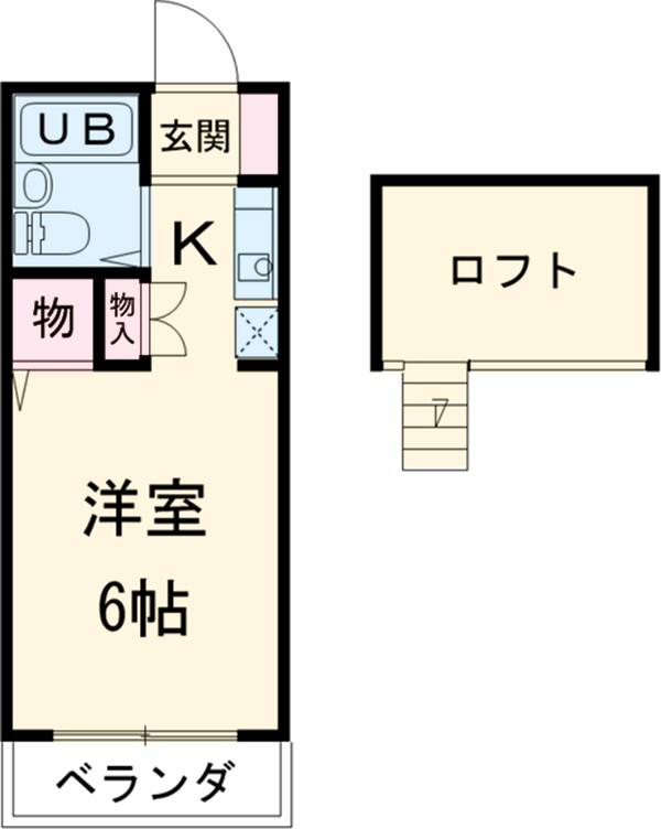 池田ハイツB・211号室の間取り