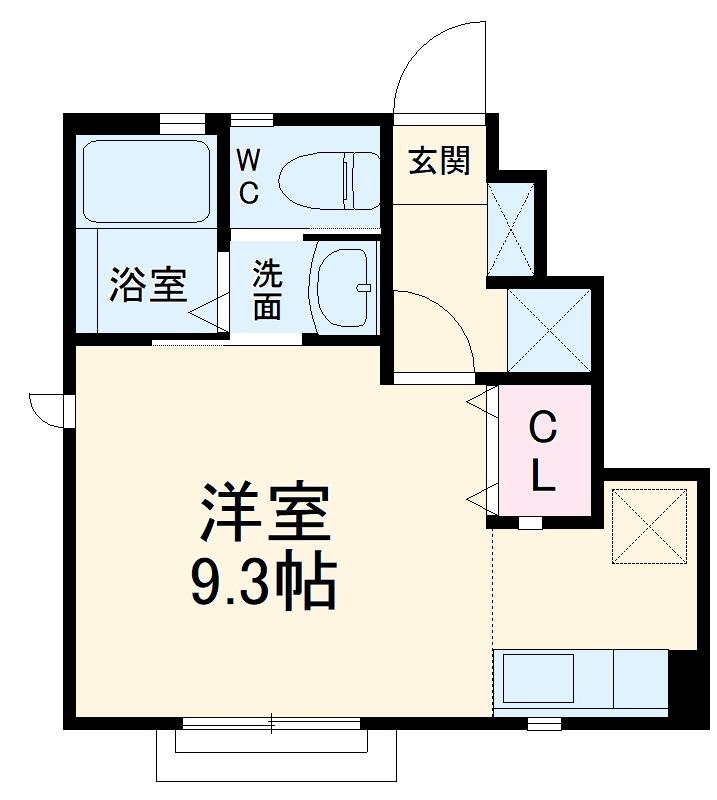 DEAR COURT 大野町3・101号室の間取り