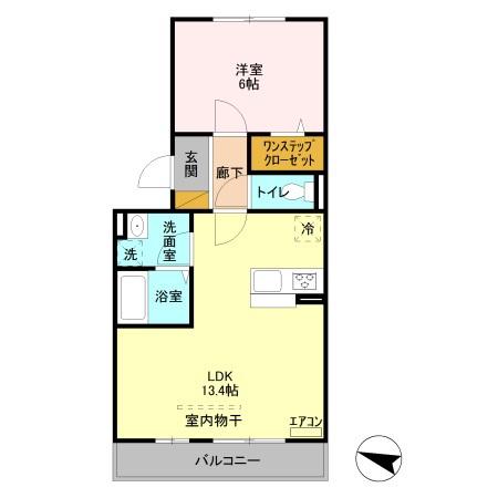 ロイヤルメゾン NAGOMI・303号室の間取り