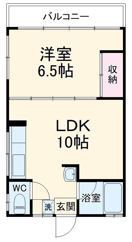 ローズマンション 303号室の間取り
