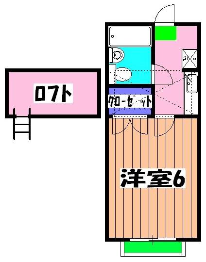 オラシオンT・211号室の間取り