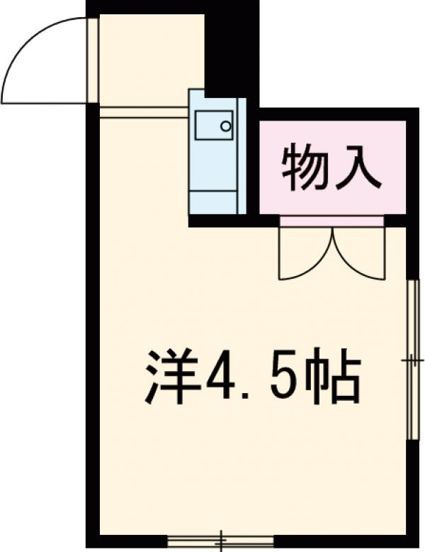 菅原アパート・2号室の間取り