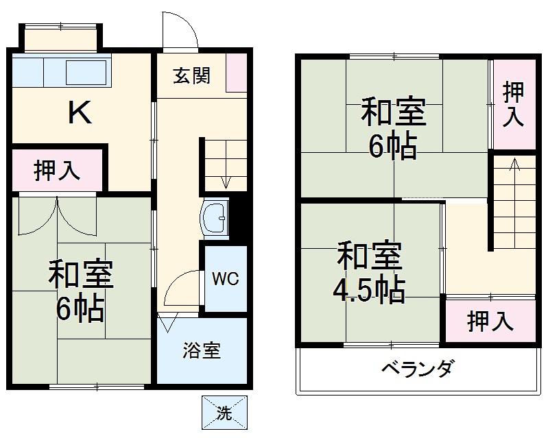 よねしんアパート・2号室の間取り