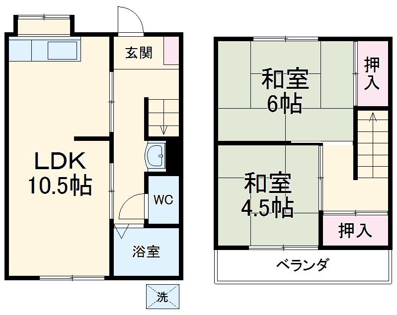 よねしんアパート・3号室の間取り