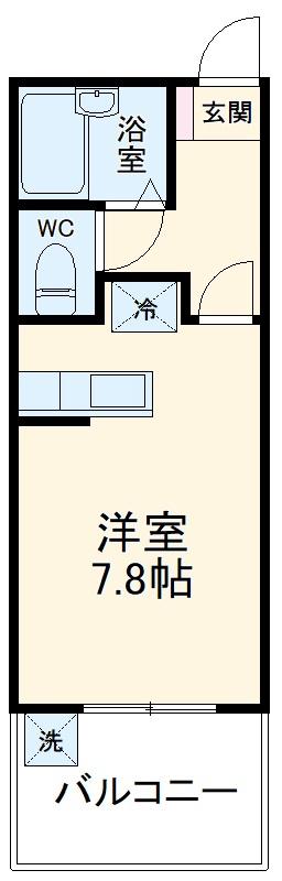 岡本ビル・406号室の間取り