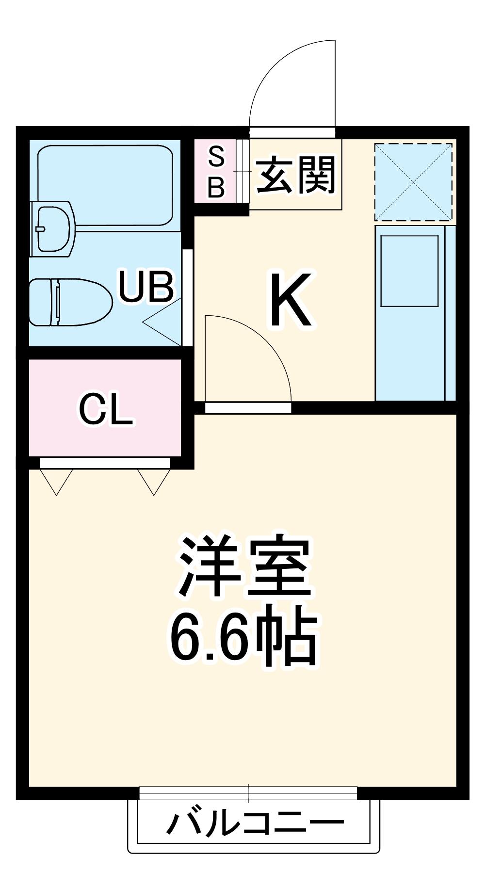 第五稲荷荘 203号室の間取り