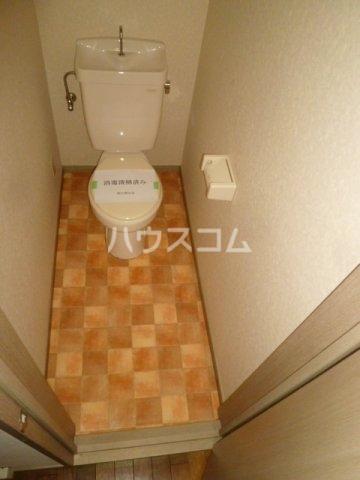 メイプル1 205号室のトイレ