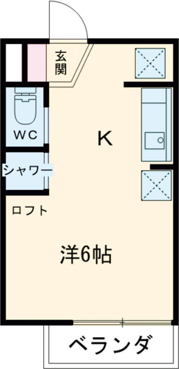 フローラ4 424号室の間取り