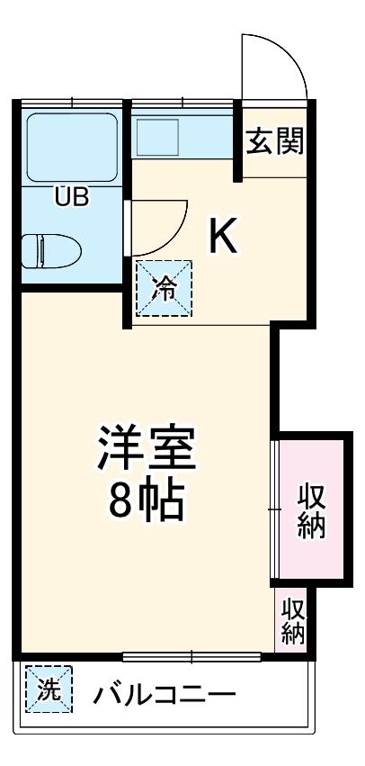 横山ビル・202号室の間取り