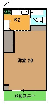 横山ビル・303号室の間取り