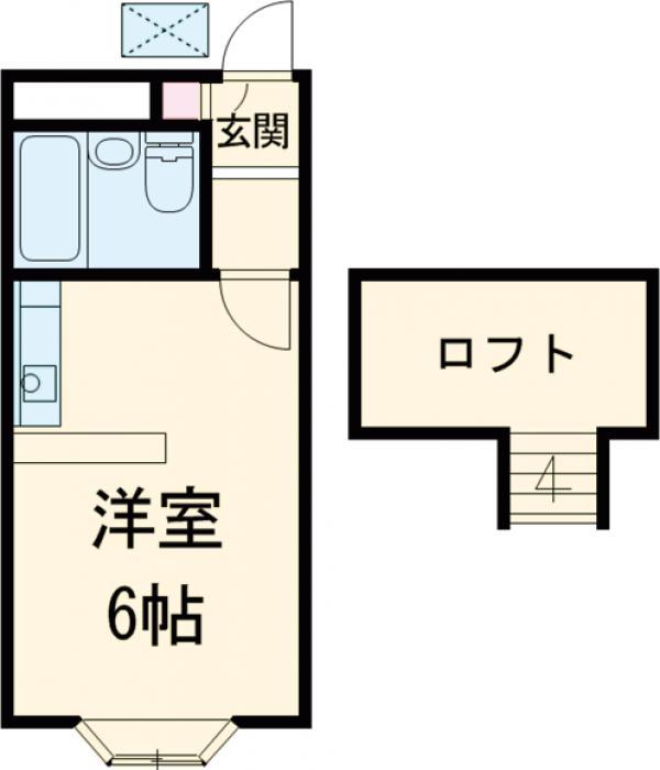 ベルピア姫宮第1・103号室の間取り