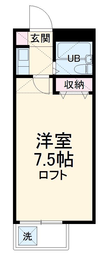 サンシャトー姫宮・107号室の間取り