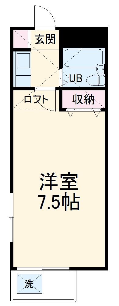 サンシャトー姫宮 108号室の間取り
