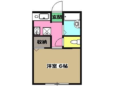 ファンテーヌメゾン片倉 205号室の間取り