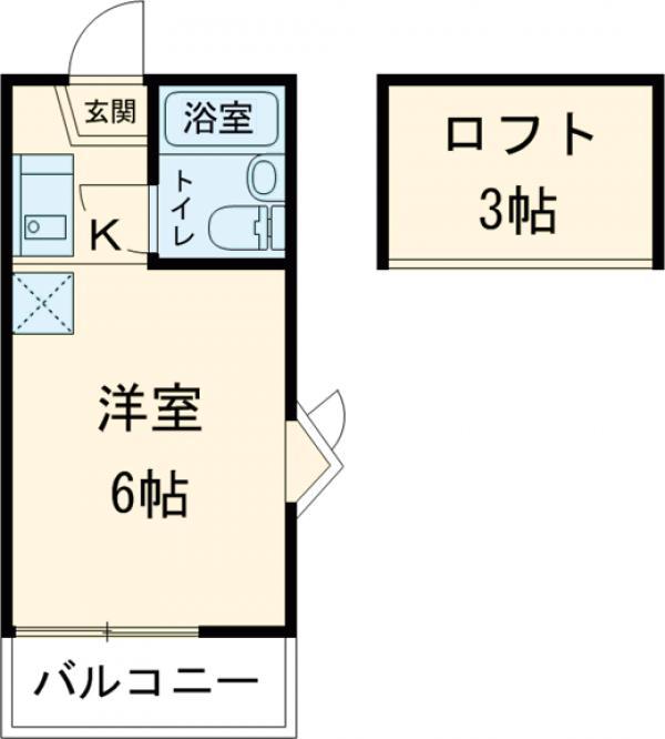 コーポ青木第2 201号室の間取り