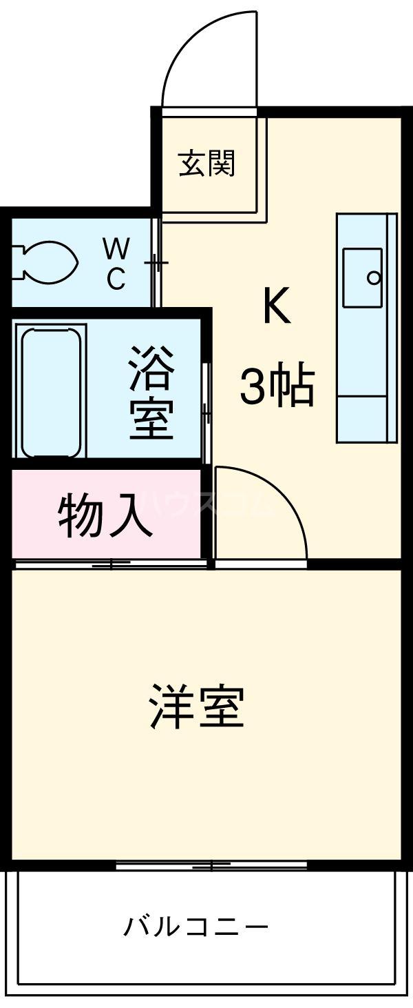 プリミエール八田・303号室の間取り