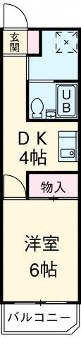 マンション横井 501号室の間取り