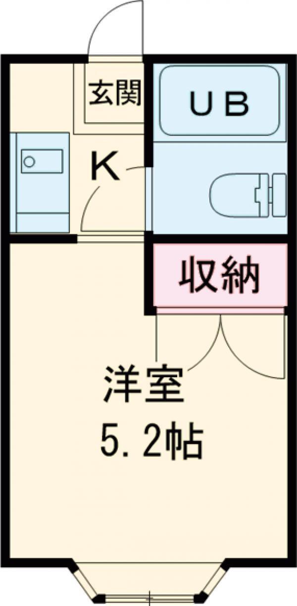 沢井コーポ・203号室の間取り
